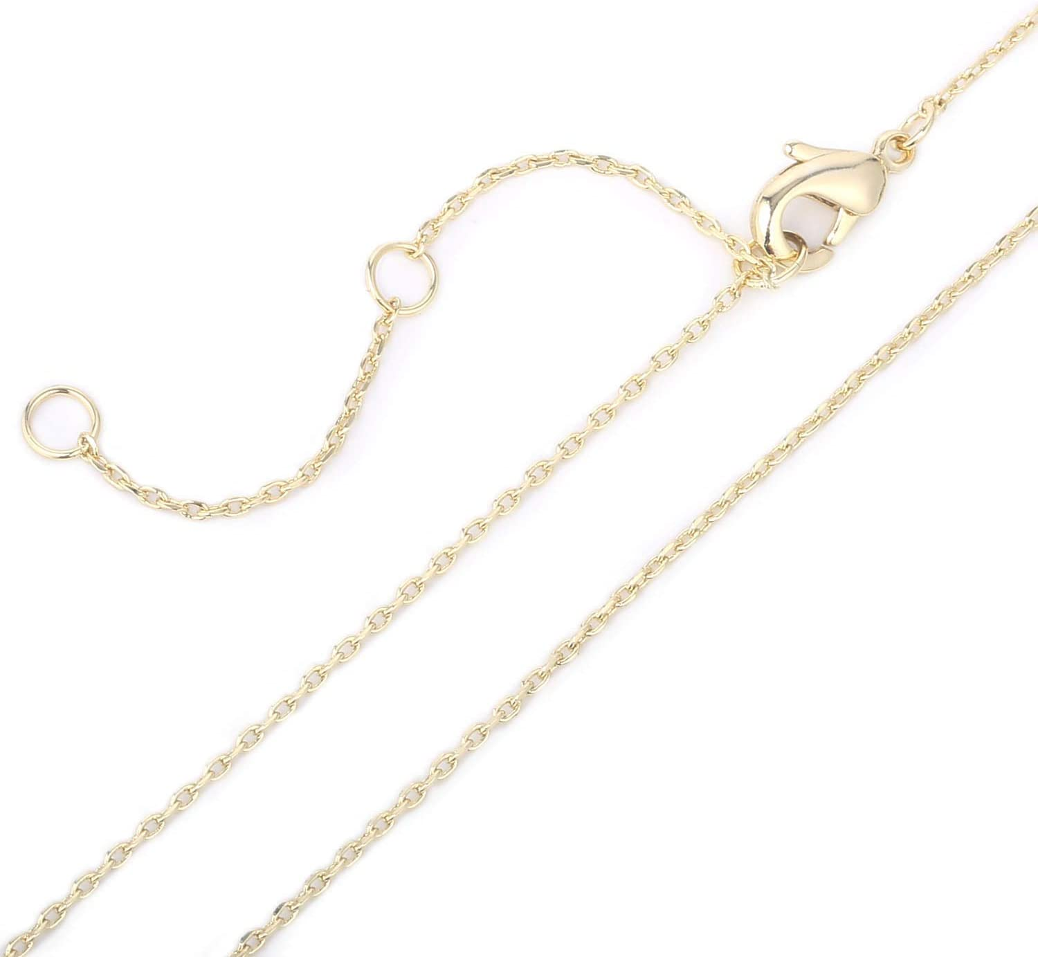 DLNKFD10RG Men Women 14K Rose Gold Chain 1mm Cable Chain Necklace