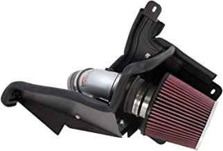 K&N Cold Air Intake Kit with Washable Air Filter: 2012-2018 Ford Focus, 2.0L L4, Polished Metal Finish with Red Oiled Filter, 69-3517TS