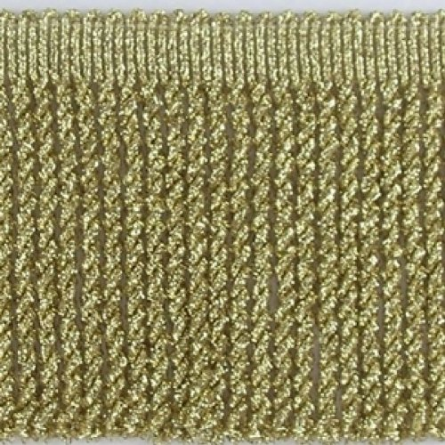Fransen metalic 7cm Kordel Fransenborte für Epauletten, Deko und Karneval (goldfarben)