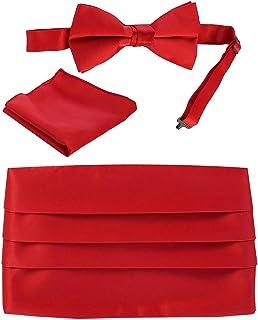 Gioberti Kids/Boys' Adjustable Satin And Paisley Cummerbund Set With Formal Bow Tie and Pocket Square