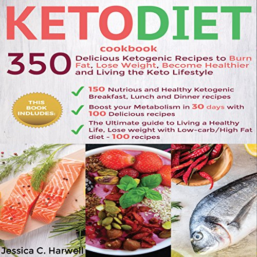 Keto Diet Cookbook audiobook cover art