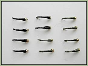 12 pack Olive /& Orange Sight Bob Killers 10//12//14 Trout Fly Gold Bead Buzzers