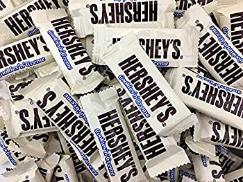 Hershey s Cookies  n  Creme Snack Size Bars White Milk Chocolate Candy Bars Bulk Pack 4 Pounds