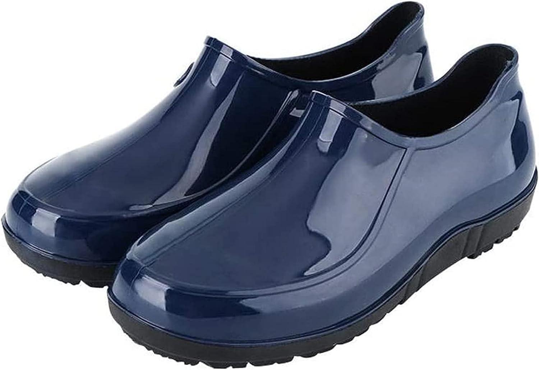 YUESFZ rain Boots Men's Product Low-top Fashion Work Rain Sho Tube Dedication
