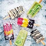 Freenfitmall Palillos de helado, palillos de madera para piruletas, manualidades de madera natural, utilizados para helados o tartas y manualidades para niños (20 unidades)