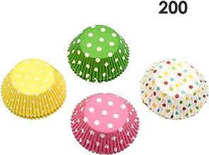 Gifbera Colorful Muffin Paper Cupcake Liners Polka Dots Baking Cups Kitchen Cake Tools DIY, 200 Pcs