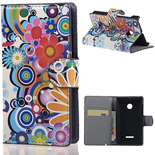 weixin TM PU Leather Cover Case per Nokia Microsoft Lumia 532 Cover Case Protettivo Coprire Pelle Guscio Sacchetto Wallet/Card Slots (02#)