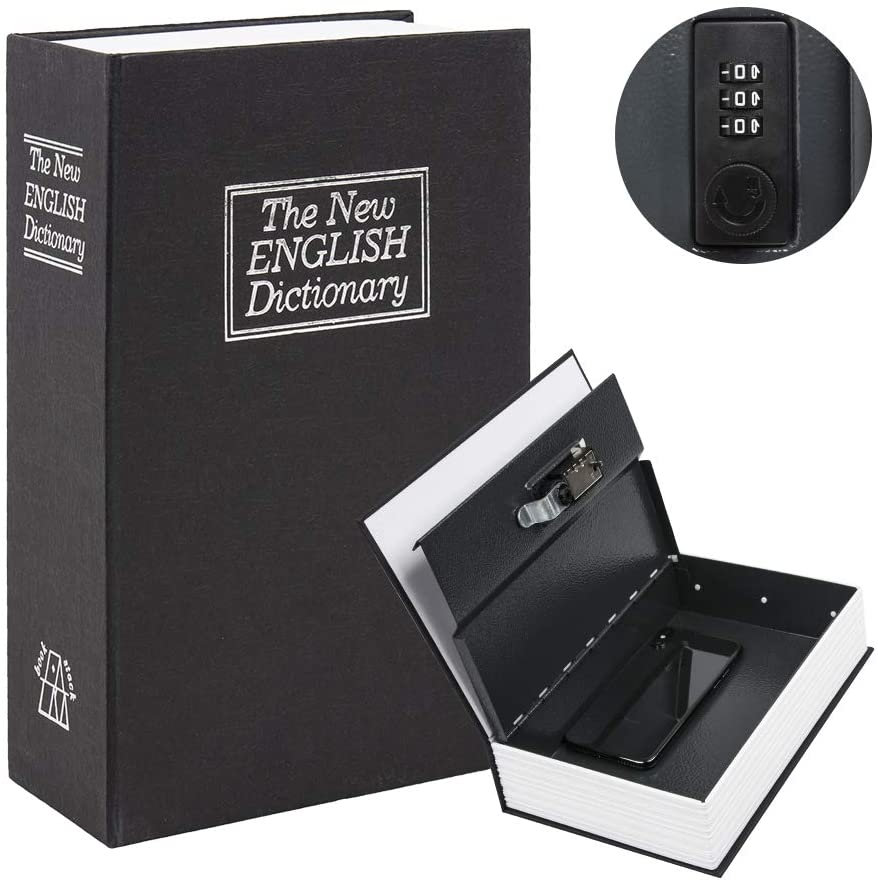 Superlatite KYODOLED Diversion Book Safe with Charlotte Mall Lock Combination Large S