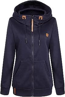 Womens Full Zip Funnel Neck EcoSmart Fleece Sweatshirt Hoodies