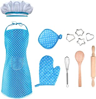 SOKY Cooking and Baking Set Chef Costume Career Role Play for Kids - Best Gifts