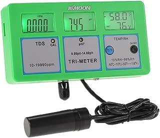 Water Quality Tester, KKmoon New Professional 4 in 1 Multi-parameter Water Testing Meter Digital LCD Tri-Meter Multi-function Water Quality Monitor pH/RH/TDS/TEMP Multiparameter Water Quality Tester