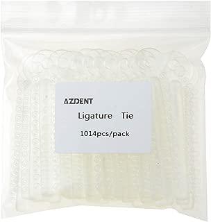 AZDENT Dental Orthodontic Ligature Ties Braces Rubber Band Clear White(1014 pcs/Bag)