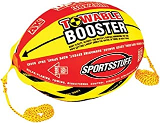 SPORTSSTUFF Towable Booster Tube Yellow, Red, Black, Dimensions inflated (38in x 28in) deflated (45in x 36in)