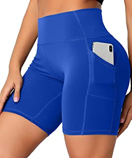 HURMES Yoga Shorts for Women High Waist Tummy Control Workout Biker Athletic Gym Running Compression Shorts