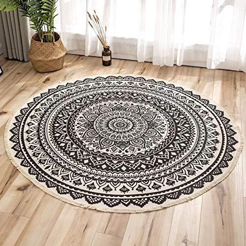MENEFBS Alfombra mullida para sala de estar, antideslizante, para dormitorio, suave y acogedora, alfombra de guardería, antideslizante, 180 cm