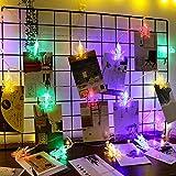 Foto clip lámpara decoración de la habitación foto en todo el cielo estrella lámpara led cadena de lámpara de color pequeño, USB 3 20 color claro, tamaño libre