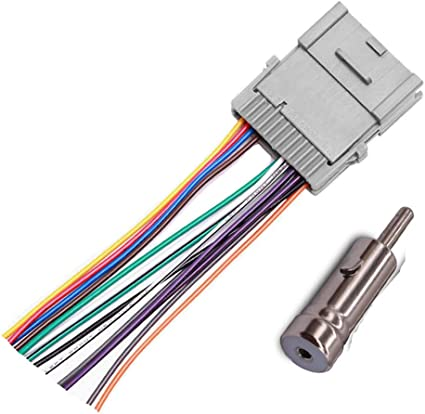 amazon.com: stereo radio wiring harness adapter for gm chevy gmc buick  pontiac : electronics  amazon.com
