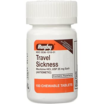Rugby Travel Sickness, Tablets, 100 Ea