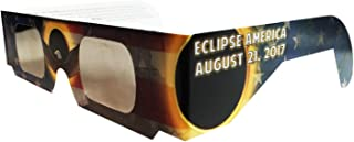 10 Eclipse Black Red White and Blue Polymer Eclipse America August 21, 2017 Glasses, CE and ISO Certified Safe Solar Viewing