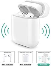 MoKo Wireless Charging Receiver Case Compatible with Apple AirPods 1 & 2, Protective Replacement Original Size Wireless Receiver Cover Fit Any Qi Wireless Charger (Not Include AirPods Charging Case)