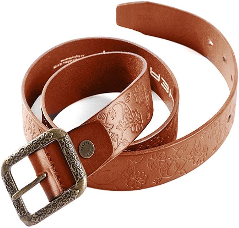 Herbal HEAVEN Men And Women Belt Buckle Engraved Texture Leather Belt ...