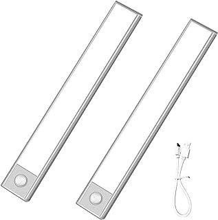 YUNBO Homelife LED Bars Motion Sensor Lights Under Cabinet, 36 LEDs Rechargeable Not Glare Ultra Thin Magnetic Closet Ligh...