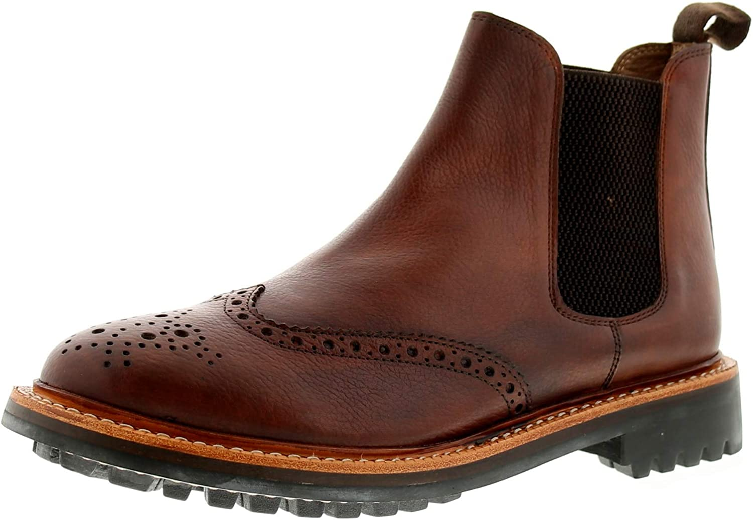 Heavenly Feet Melford Mens Other Leather Material Formal Boots Brown
