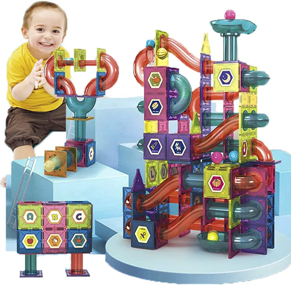 Amazon.com Magnetic Tiles Ball Track Toys 20 Piece  STEAM ...