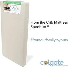 "Colgate Eco Classica III Dual Firmness Orthopedic Style Crib Mattress   Eco-Friendly Foam with Ultra-Soft Organic Waterproof Hypoallergenic Cotton Cover – 51.63"" x 27.25"" x 6"""