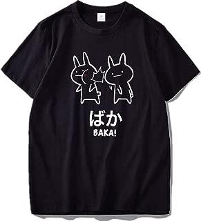 Baka Rabbit Slap T Shirt Japan Funny Anime Tops Men Cotton O-Neck Tee Japanese T-Shirt EU Size