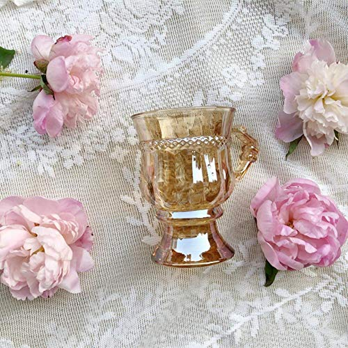 Kaffeetasse Mugs Geschenk Becher Hitemperature Resistance Glass Cupping Coffe Cups Küchenzubehör Wine Cup Glass Cups Trinkglaswaren, Amber, 125Ml