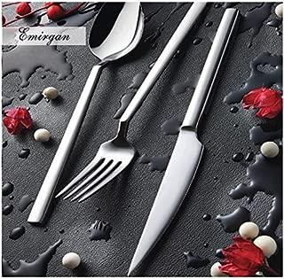 Silverware set by Olinda Silverware set 20 pc Service for 4 18/10 Stainless Steel Flatware, Elegance