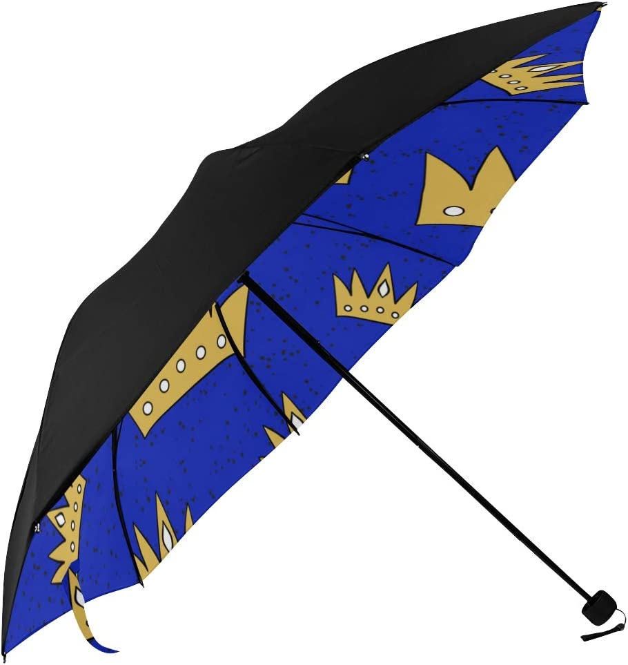 Compact Selling Travel Umbrella Repetitive Fun Star Undersi Shiny Crowns Limited Special Price