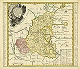 Historische Karte: Amt Wittenberg, Amt Gräfenhainichen und Amt Seyda 1749 (Plano)