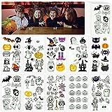 MEZOOM 20 Hojas Tatuajes Temporales Luminosos Halloween Calcamonias para Niños Etiquetas Engomadas...
