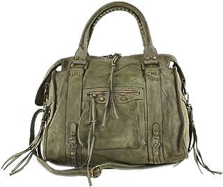 BZNA Bag Simona grün Verde Italy Designer Damen Ledertasche Handtasche Schultertasche Tasche Leder Beutel Neu