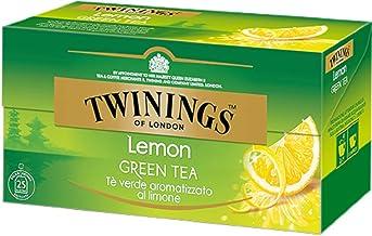 Twinings Té Verde Limón - Selección de Té Verde Ligero y Refrescante Adornado con Delicados Aromas de Frutas y Hierbas (50 Bolsas)