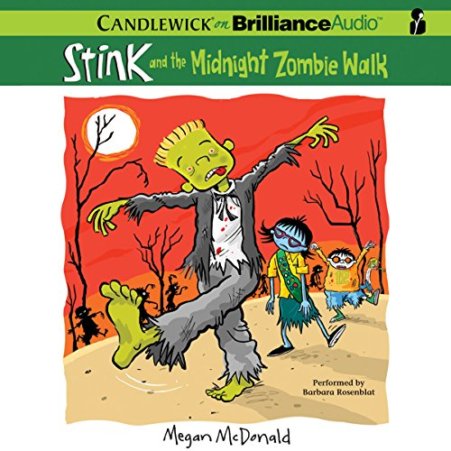 Stink and the Midnight Zombie Walk audiobook cover art