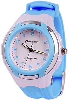 Wolfteeth Analog Watch for Kids Boys Girls Wrist Watch Waterproof Learning Time Watch 22mm Watch Band 3044