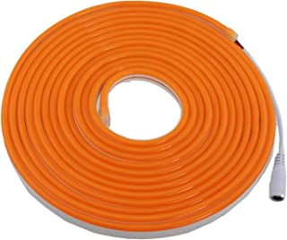 Rextin 16.4ft Dimmable Orange led Light Strip Flexible Silicone LED Neon Rope Lights DC12V IP67 for DIY Indoor & Outdoor S...