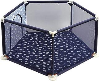 子供用プレイフェンス、子供用室内用家庭用安全ゲームプレイフェンスフェンス、赤ちゃん幼児用 (色 : 濃紺)