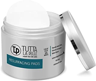 Glycolic Acid Pads 20% Resurfacing Acne pads [60 Pads] Reduces Acne Breakouts, Fine Lines, Wrinkles, | Exfoliating Pads Fo...