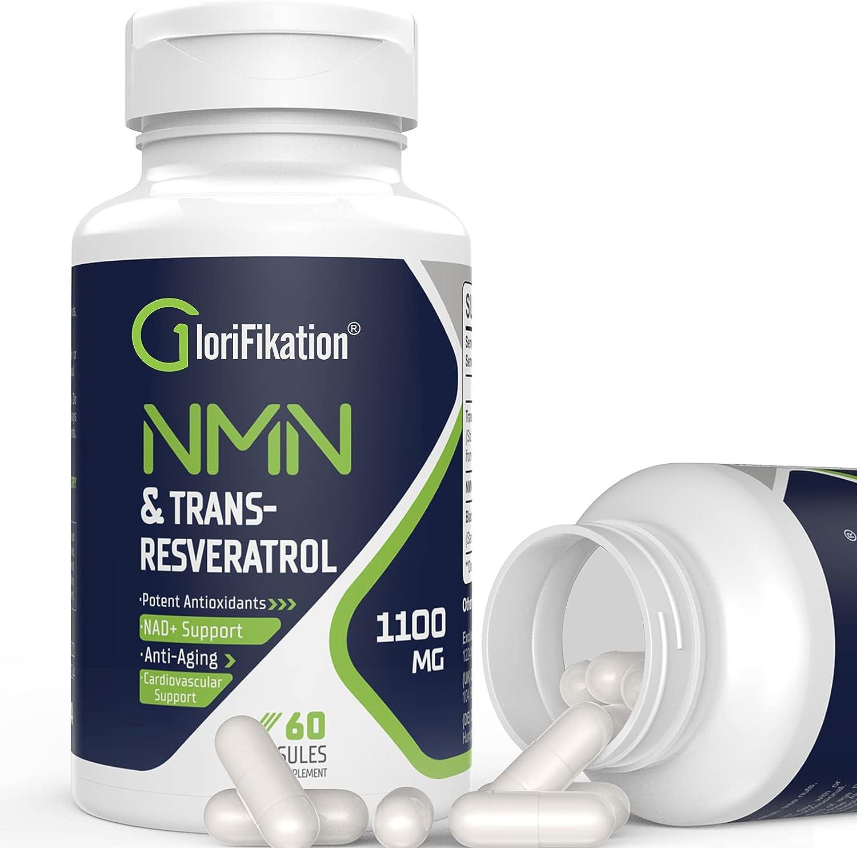 Trust 1100mg NMN Trans-Resveratrol Supplement Purity Nicotinamide Rare 99%