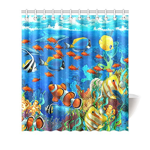 Tropical Fish and Coral Undersea Shower Curtain