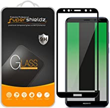 Supershieldz (2 Pack) for Huawei (Mate 10 lite) Tempered Glass Screen Protector, (Full Screen Coverage) Anti Scratch, Bubble Free (Black)