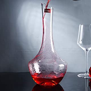 zhixing Wine Decanter Pear-Shape Wine Jug 100% Lead-Free Crystal Wine Carafe 1000ml Decanting Aerator Gift Accessories for Drinker Family Party Business