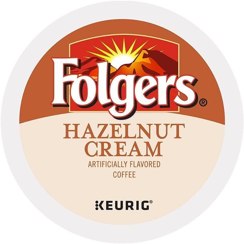 Folgers Hazelnut Cream Keurig K Cup Portion Pack 96 Count