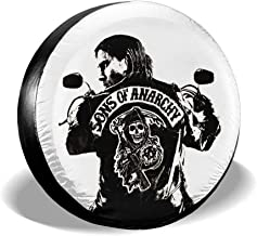 NGRUANXIRUAN Sons of Anarchy Tire Covers,Waterproof Polyester Tire Sun Protectors, Fits 23