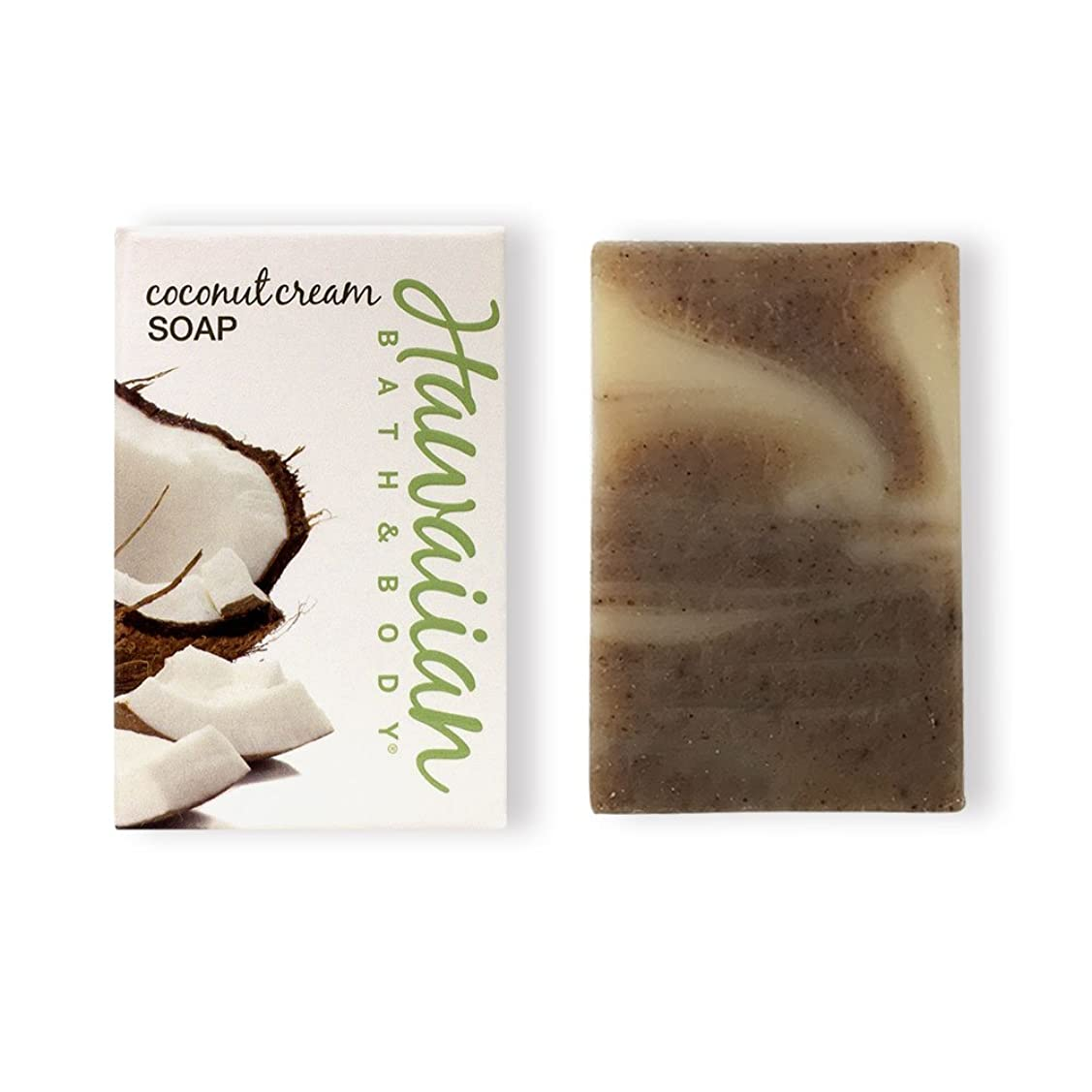完璧な更新する住むハワイアンバス&ボディ ココナッツクリームソープ ( Coconut Soap )