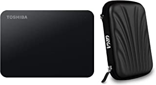 Toshiba Canvio Basics 4TB A3 USB 3.0 External Hard Drive (Black) with Case